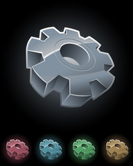 Gear wheel symbol set