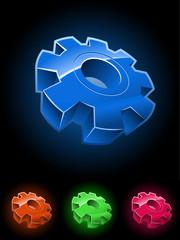 Gear wheel vector symbol set.
