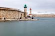 Tempête sur la jetée du dragon à Bastia en Corse