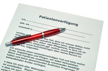 Patientenverfügung  #101204-031