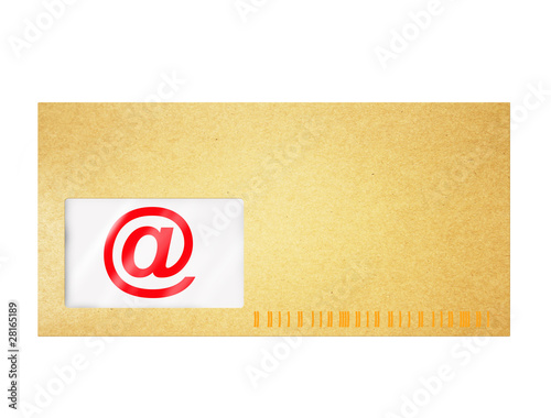 email symbol in einem Brief