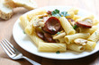 Pasta with Sausage and Mushrooms