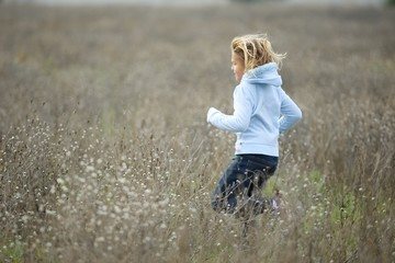 Playing in a field