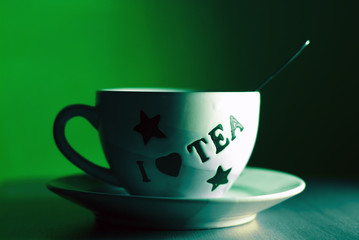 mystic  cup of tea  background.