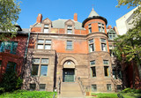 Front Richardsonian Romanesque Victorian House Turret Tower, DC poster