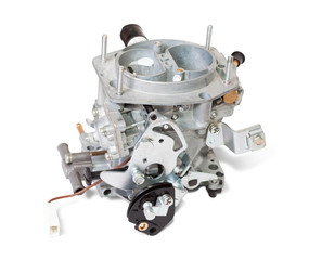 New carburettor on white