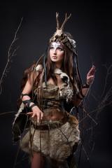 Portrait of the female viking