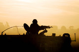 Silhouette Army Soldier Sunset