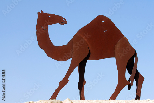 Camel Statues in the Negev Desert in Israel