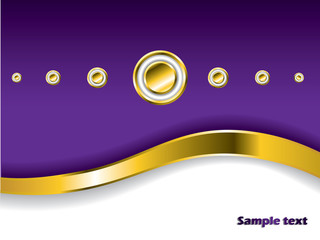Stylish background with golden wave and buttons
