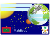Maldives business card globe national emblem