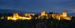 Panorama der Alhambra bei Nacht