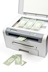 Printer and money
