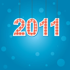 New Years card 2011 . Vector illustration