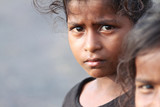 Indian Rural Girl with Grim Expression