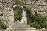 Metropolis of Mystras - Entrance to beautiful garden poster