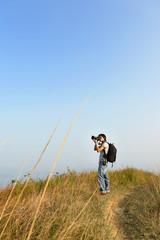 Photographer taking photo outdoor