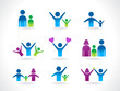 abstract people icon template