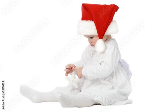 Cute baby in Santa's hat - 28180539
