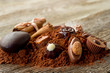 chocolate candy with ingredients-cioccolatini e ingredienti