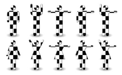 Checkered Male/Female Symbols