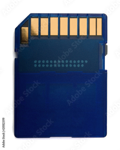 Blue sd memory flash card