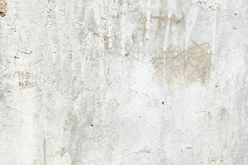 Full Frame Grungy Dirty Painted Cement Wall with Dripping Paint