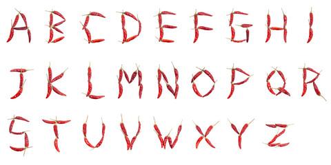 とうがらし アルファベット