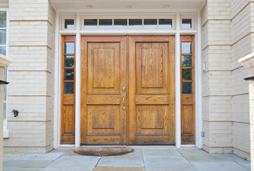 XXXL Wooden Double Door Grand Entrance to a Home