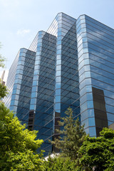 XXXL Modern Blue Glass Office Building, Rosslyn, Virginia