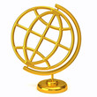 Golden globe icon