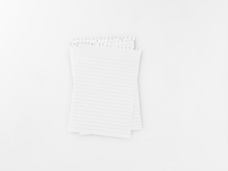 lined blank pages from spiral bound notepad