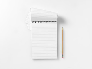 reporters blank book jotter with pencil copyspace 2