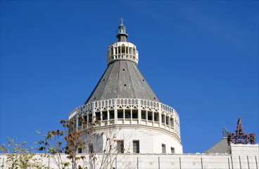 Church of the Annunciation dome in Nazareth, Israel