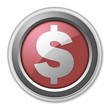 "Red 3D Style Button ""Dollar Sign"""