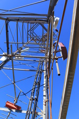 From below the cell phone tower