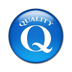 Boton brillante simbolo Quality