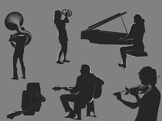 musicians - concert flyer elements