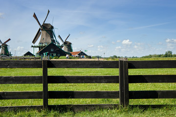 Attractive Dutch working windmill, in Holland