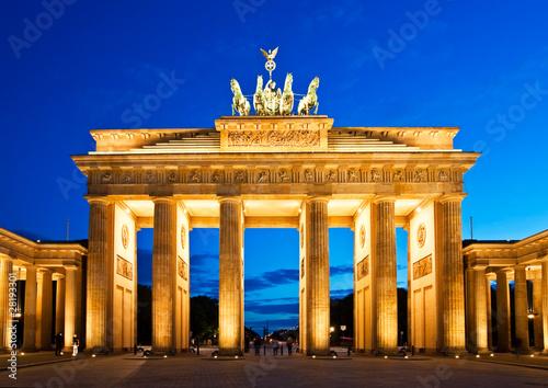 Poster Brandenburg Gate in Berlin