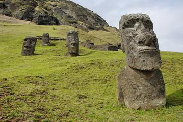 Abandoned moai