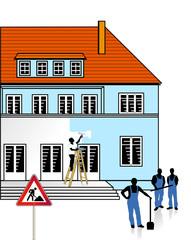 Haus-Baustelle