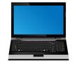 Laptop computer vector format.