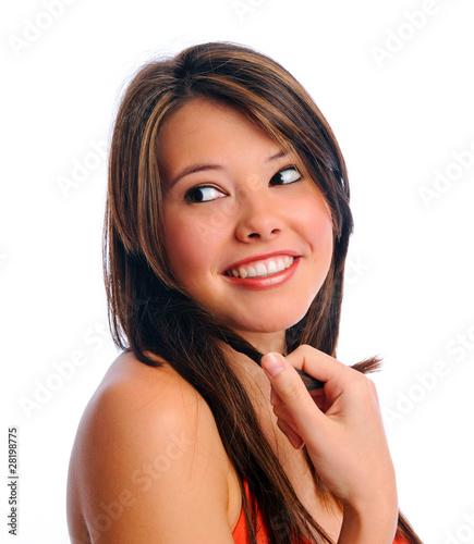 Pretty brunette smile