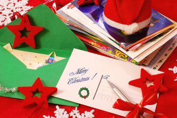 writing greeting cards for christmas
