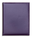 purple leather notebook isolated on white background