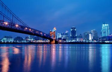 Cincinnati Ohio Skyline at Night