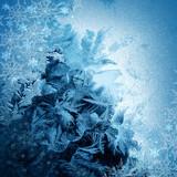 Fototapeta lodowych - śnieżynkami - Tła