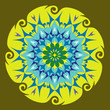 Mandala Energie Couleurs Vert et Bleu