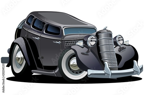 Vector retro cartoon car
